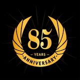 85 years anniversary design template. Elegant anniversary logo design. Eighty five years logo. 85 years anniversary celebration design template. 85 years royalty free illustration