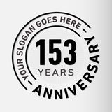 153 Years Anniversary Celebration Design Template. Anniversary vector and illustration. 153 years logo. 153 years anniversary celebration design template. 153 royalty free illustration