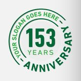 153 Years Anniversary Celebration Design Template. Anniversary vector and illustration. 153 years logo. 153 years anniversary celebration design template. 153 stock illustration