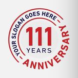 111 Years Anniversary Celebration Design Template. Anniversary vector and illustration. 111 years logo. 111 years anniversary celebration design template. 111 royalty free illustration