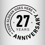 27 Years Anniversary Celebration Design Template. Anniversary vector and illustration. Twenty-seven years logo. vector illustration