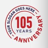 105 Years Anniversary Celebration Design Template. Anniversary vector and illustration. 105 years logo. 105 years anniversary celebration design template. 105 vector illustration