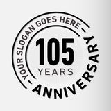 105 Years Anniversary Celebration Design Template. Anniversary vector and illustration. 105 years logo. 105 years anniversary celebration design template. 105 royalty free illustration