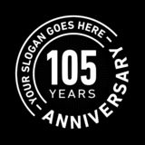 105 Years Anniversary Celebration Design Template. Anniversary vector and illustration. 105 years logo. 105 years anniversary celebration design template. 105 stock illustration