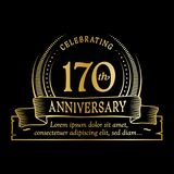 170th anniversary design template. 170 years logo. 170 years vector and illustration. 170 years anniversary celebration design template. 170years logo. 170th stock illustration