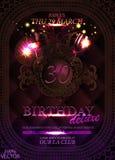 30 years anniversary celebration design stock illustration