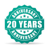 20 years anniversary celebration icon. 20 years anniversary celebration vector icon Stock Photography