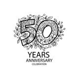 50 years anniversary celebration logo. Emblem, sticker, banner Stock Images