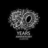 50 years anniversary celebration logo. Emblem, sticker, banner Royalty Free Stock Photography