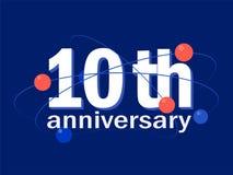10 years anniversary celebration vector icon, logo, design element. 10 years anniversary celebration vector icon, logo. Template abstract design element for 10th stock illustration