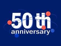 50 years anniversary celebration vector icon, logo, design element. 50 years anniversary celebration vector icon, logo. Template abstract design element for 50th stock illustration