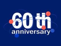 60 years anniversary celebration vector icon, logo, design element. 60 years anniversary celebration vector icon, logo. Template abstract design element for 60th vector illustration