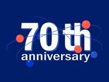 70 years anniversary celebration vector icon, logo, design element. 70 years anniversary celebration vector icon, logo. Template abstract design element for 70th vector illustration