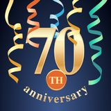 70 years anniversary celebration vector icon, logo Royalty Free Stock Photos