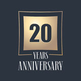 20 years anniversary celebration vector icon, logo Stock Photos