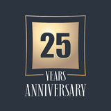 25 years anniversary celebration vector icon, logo Stock Image