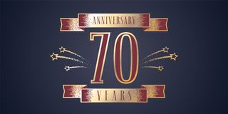 70 years anniversary celebration vector icon, logo Stock Photo