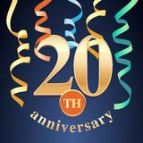 20 years anniversary celebration vector icon, logo Stock Photo