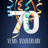 70 years anniversary celebration vector icon, logo Royalty Free Stock Images