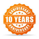 10 years anniversary celebration vector icon. 10 year anniversary celebration vector icon  on white background Royalty Free Stock Photography