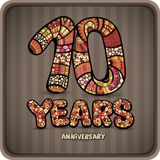 10 years anniversary. Decorative hand lettering vector card Stock Image