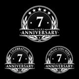 7 years anniversary design template. Anniversary vector and illustration. 7th logo. 7 years anniversary design template. Seven years celebrating vector and royalty free illustration