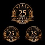 25 years anniversary design template. Anniversary vector and illustration. 25th logo. stock illustration