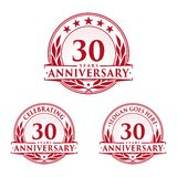 30 years anniversary design template. Anniversary vector and illustration. 30th logo. 30 years anniversary design template. 30 years celebrating vector and vector illustration