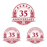 35 years anniversary design template. Anniversary vector and illustration. 35th logo. 35 years anniversary design template. 35 years celebrating vector and royalty free illustration