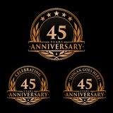 45 years anniversary design template. Anniversary vector and illustration. 45th logo. 45 years anniversary design template. 45 years celebrating vector and stock illustration