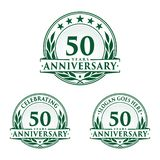 50 years anniversary design template. Anniversary vector and illustration. 50th logo. 50 years anniversary design template. 50 years celebrating vector and royalty free illustration