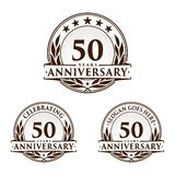 50 years anniversary design template. Anniversary vector and illustration. 50th logo. 50 years anniversary design template. 50 years celebrating vector and vector illustration