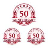 50 years anniversary design template. Anniversary vector and illustration. 50th logo. 50 years anniversary design template. 50 years celebrating vector and stock illustration