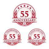55 years anniversary design template. Anniversary vector and illustration. 55th logo. 55 years anniversary design template. 55 years celebrating vector and royalty free illustration