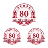 80 years anniversary design template. Anniversary vector and illustration. 80th logo. 80 years anniversary design template. 80 years celebrating vector and vector illustration