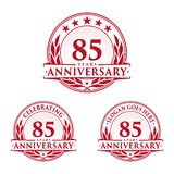 85 years anniversary design template. Anniversary vector and illustration. 85th logo. 85 years anniversary design template. 85 years celebrating vector and royalty free illustration