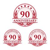 90 years anniversary design template. Anniversary vector and illustration. 90th logo. 90 years anniversary design template. 90 years celebrating vector and vector illustration