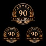 90 years anniversary design template. Anniversary vector and illustration. 90th logo. 90 years anniversary design template. 90 years celebrating vector and royalty free illustration