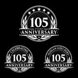 105 years anniversary design template. Anniversary vector and illustration. 105th logo. 105 years anniversary design template. 105 years celebrating vector and vector illustration