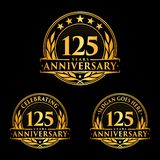 125 years anniversary design template. Anniversary vector and illustration. 125th logo. 125 years anniversary design template. 125 years celebrating vector and vector illustration
