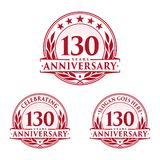 130 years anniversary design template. Anniversary vector and illustration. 130th logo. 130 years anniversary design template. 130 years celebrating vector and royalty free illustration