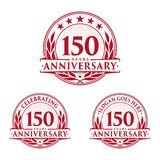 150 years anniversary design template. Anniversary vector and illustration. 150th logo. 150 years anniversary design template. 150 years celebrating vector and royalty free illustration