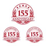155 years anniversary design template. Anniversary vector and illustration. 155th logo. 155 years anniversary design template. 155 years celebrating vector and vector illustration