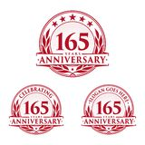 165 years anniversary design template. Anniversary vector and illustration. 165th logo. 165 years anniversary design template. 165 years celebrating vector and stock illustration