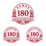 180 years anniversary design template. Anniversary vector and illustration. 180th logo. 180 years anniversary design template. 180 years celebrating vector and stock illustration