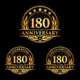 180 years anniversary design template. Anniversary vector and illustration. 180th logo. 180 years anniversary design template. 180 years celebrating vector and vector illustration