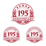 195 years anniversary design template. Anniversary vector and illustration. 195th logo. 195 years anniversary design template. 195 years celebrating vector and royalty free illustration