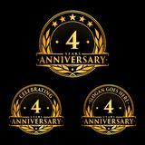 4 years anniversary design template. Anniversary vector and illustration. 4th logo. vector illustration
