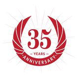 35 years anniversary design template. Elegant anniversary logo design. Thirty-five years logo. royalty free illustration