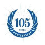 105 years anniversary design template. Elegant anniversary logo design. 105 years logo. 105 years anniversary celebration design template. 105 years celebrating vector illustration